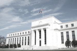 The US Federal Reserve building in Washington DC