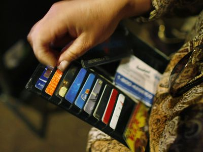 Seven Credit Cards in Wallet