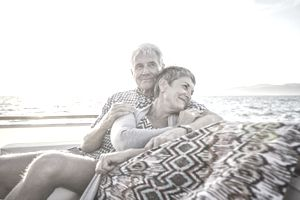 Couple on a Boat Trip at Sunset