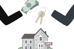 Illustration of cash home sale