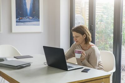 Freelancer working from home