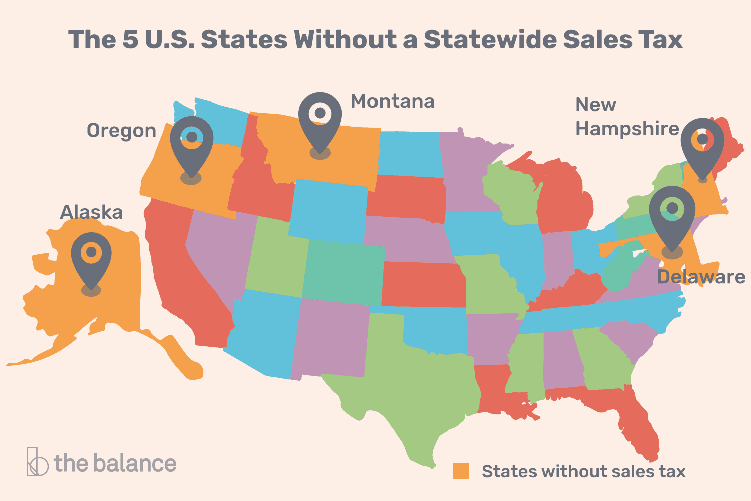 U S  States With Minimal or No Sales Taxes