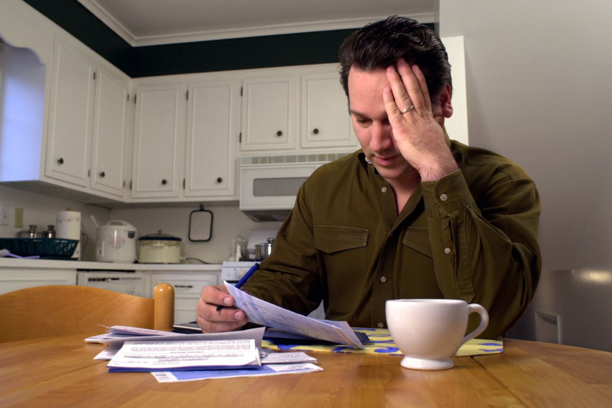 Man stressed out over bills