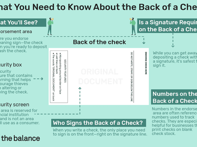Custom illustration of the back of a check
