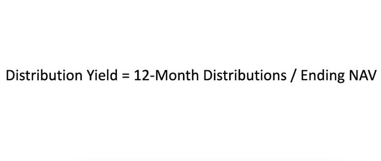 Formula for calculating distribution yield