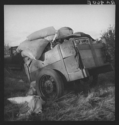 Roadside camp during the great depression