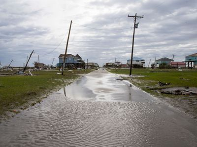 Homeowners cope with the destruction from Hurricane Laura.