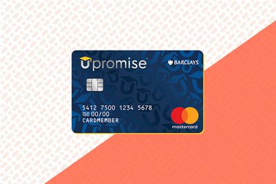 An illustration of the Upromise Mastercard credit card showing the front side of the card.