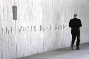 Front of the World Bank Group building in Washington