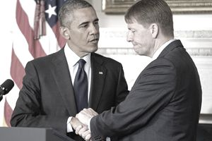 Former President Obama at first CFPB director Richard Cordray's confirmation