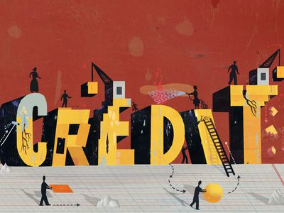 an illustration of people building credit