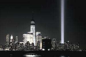 Twin Towers Of Light Shine Over New York On 9/11 Anniversary