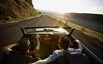 Distracted Driving Teens And What You Need To Know Couple Driving In Comvertable