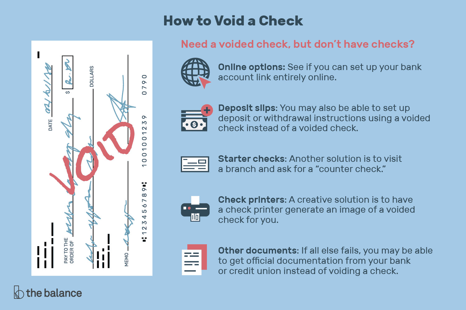 How To Void A Check Set Up Payments Deposits And Investments