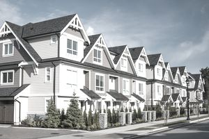 Row of new townhouses