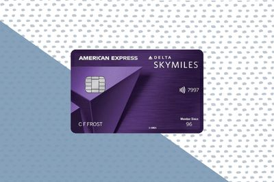 Delta SkyMiles Reserve Card on background