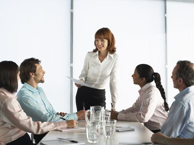 Business People at Boardroom Table