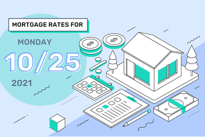 Mortgage Rates for Monday, October 25, 2021