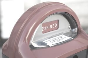 An expired meter