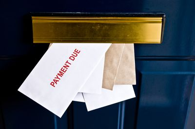 Payment due slip and other mail in mail slot