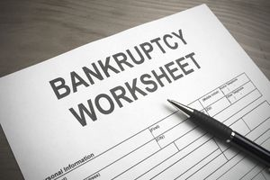 Bankruptcy worksheet