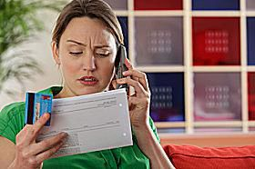 Calling the credit card issuer