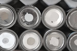 cans of lead-based paint