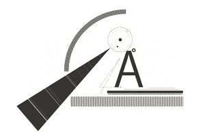 Combination of the letter A and shapes
