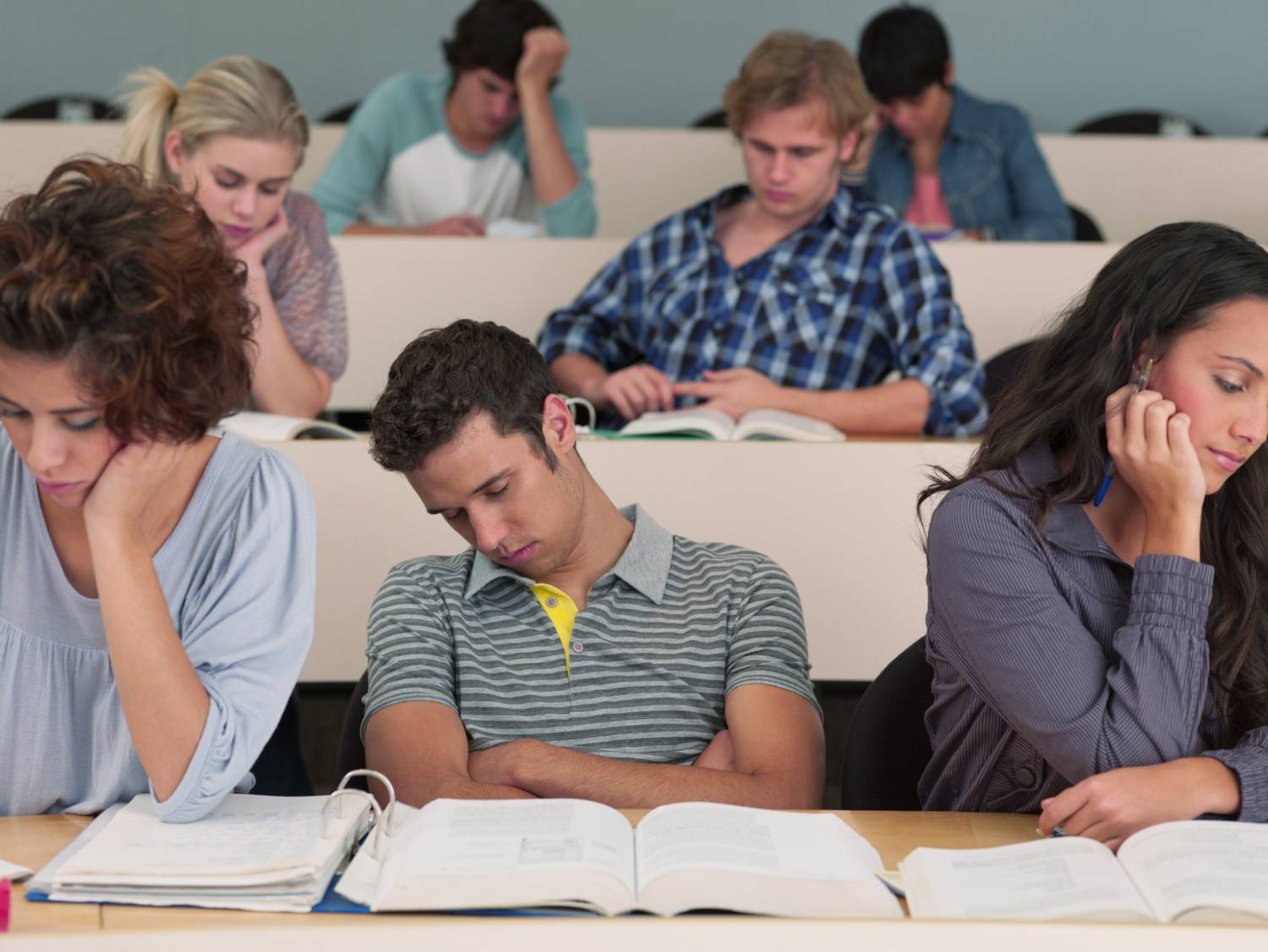 College students in class