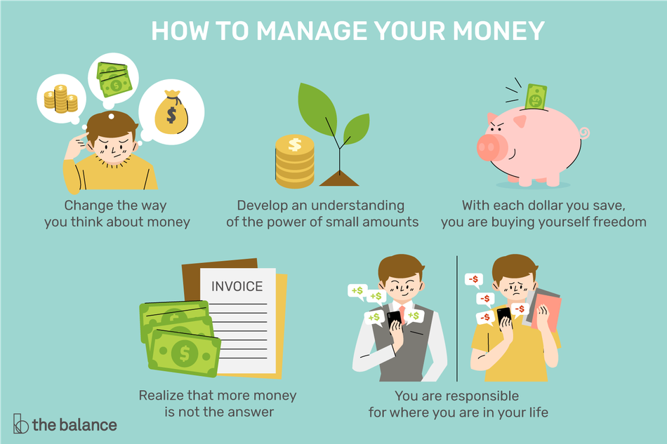 How to manage your money illustration