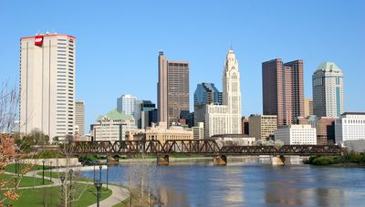 View of downtown highrises of Columbus, Ohio