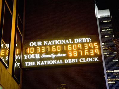 National Debt Clock in 2008, when it was expanded to 14-digits.