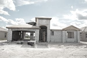 a home in the rebuilding process
