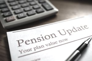 Pension update document with calculator