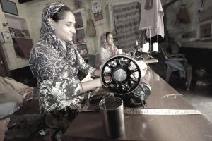 Rural Women With Sewing Machines