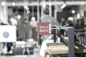 Clothing sales sign