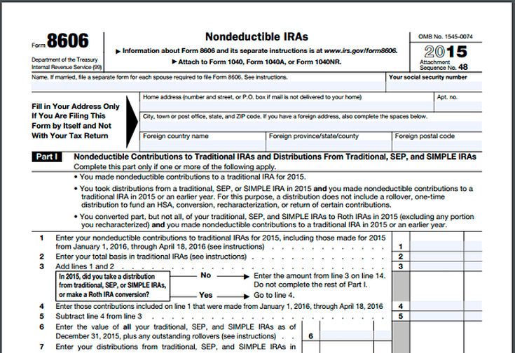 Did You Forget Filing Form 8606 For Nondeductible Iras