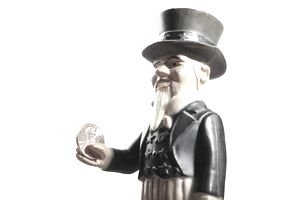 Uncle Sam Holding Penny