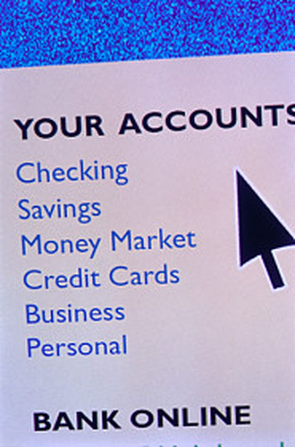"""Cursor hovering on screen over the """"Your Accounts"""" menu."""