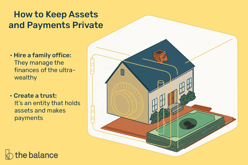How to keep assets and payments private: Hire a family office: They manage the finances of the ultra-wealthy Create a trust: It's an entity that holds assets and makes payments