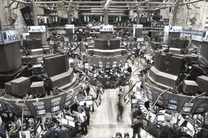 A busy floor of the New York Stock Exchange