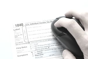 Tax preparation form 1040