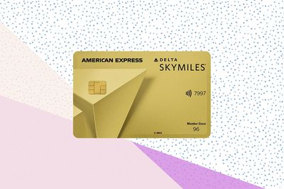 Delta SkyMiles Gold Card on background