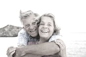 Happy couple who planned for retirement for many years