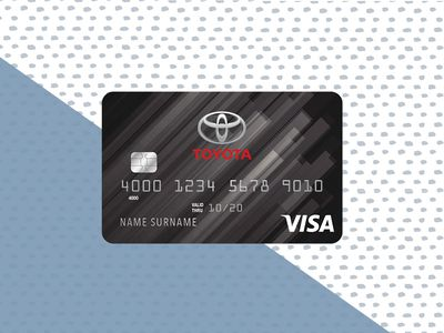 toyota rewards credit card image on blue and white background