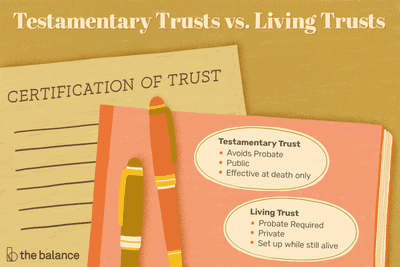 What Is the Differences Between Testamentary and Living Trusts?