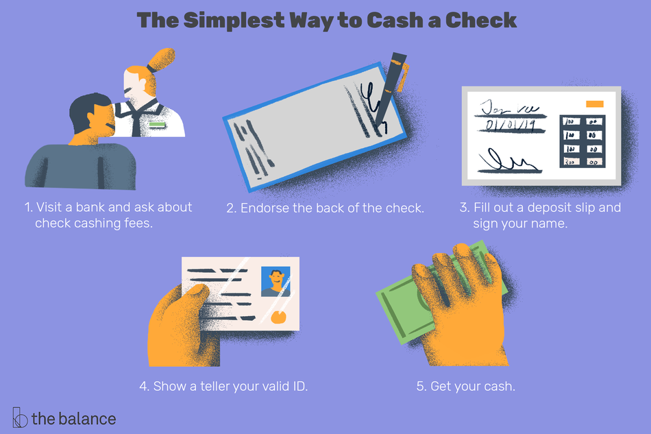 the simplest way to cash a check