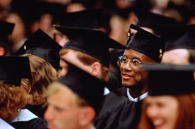 College graduates in caps and gowns
