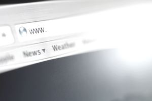 Close up of address bar on internet browser