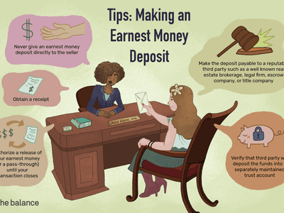 Tips: making an earnest money deposit. Never give an earnest money deposit directly to the seller, obtain a receipt, authorize a release of your earnest money (or a pass-through) until your transaction closes, make the deposit payable to a reputable third party such as a well know real estate brokerage, legal firm, escrow company, or title company. Verify that third party will deposit the funds into a separately maintained trust account.
